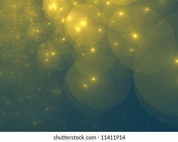 GoldGreen Star Orb Clouds