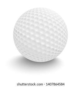 Golf ball isolated on white background. 3D illustration.