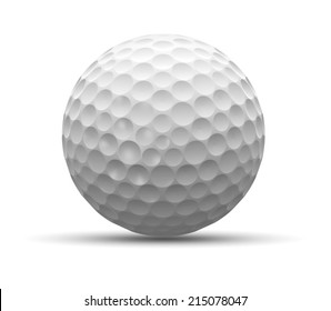 golf ball isolated on a white background. 3D