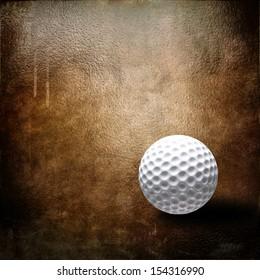 Golf ball over grunge background