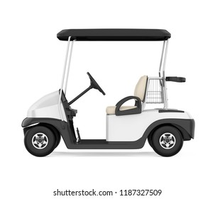 Golf Cart Isolated. 3D rendering