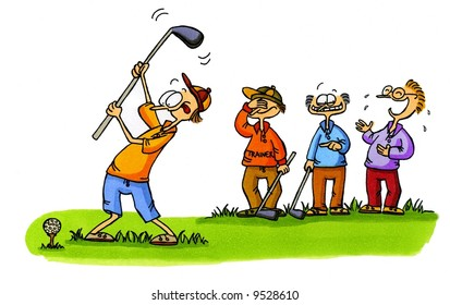 Golf Cartoon Series Number 1
