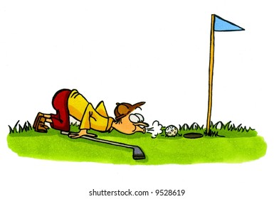 Golf Cartoon Series Number 4