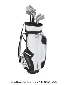 Golf Club Bag Isolated. 3D rendering