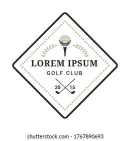 golf club emblem. Illustration decorative background design