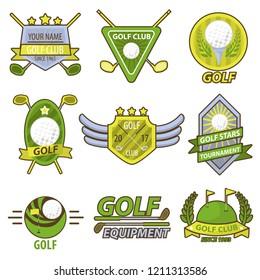 Golf Game Club Tournament Emblems  Banner