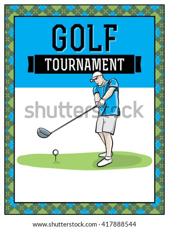 Royalty Free Stock Illustration Of Golf Tournament Flyer Template