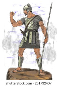 Goliath before the battle