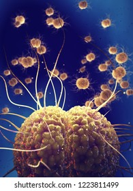 Gonorrhea is a sexually transmitted disease caused by Neisseria gonorrhoeae bacteria, STD prevention and treatment, 3d illustration