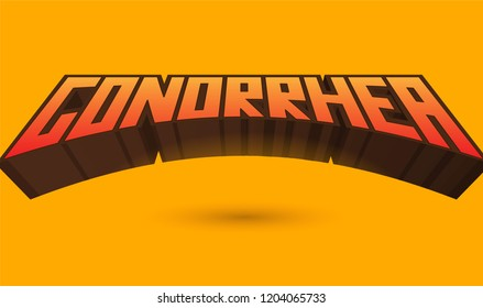 Gonorrhea text. Popular disease and medical problem
