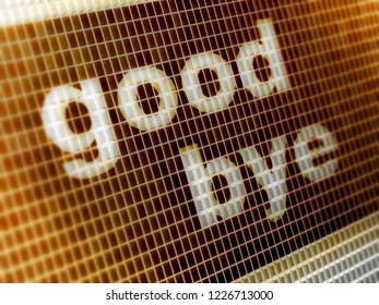 """""""good bye"""" in the screen. 3D Illustration."""