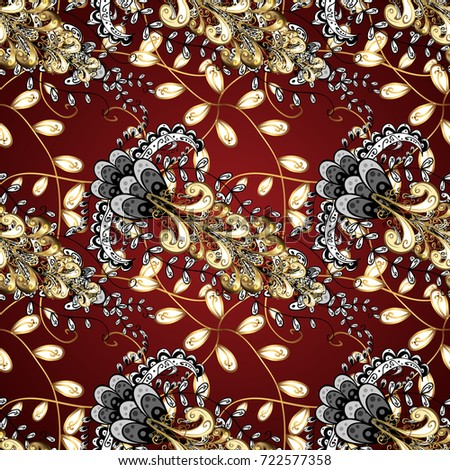 Good For Greeting Card Birthday Invitation Or Banner Gold On Red Brown And Black Colors Decorative