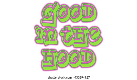 Good in the Hood Word Clip Art