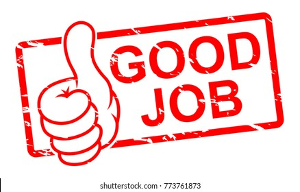 good job stampvector illustration stock vector royalty free
