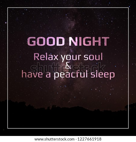 Good Night Quotes Charming Images These Stock Illustration