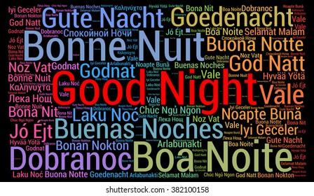 Good Night Text Stock s & Vectors