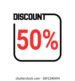Goods are being sold at a 50 percent discount, 50%