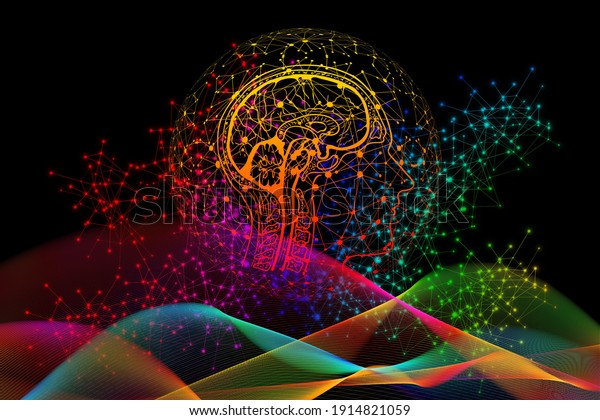 Gorgeous background and brain illustration.