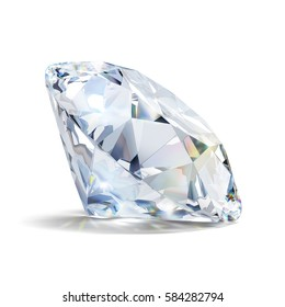 Gorgeous diamond. 3d image. Isolated white background.