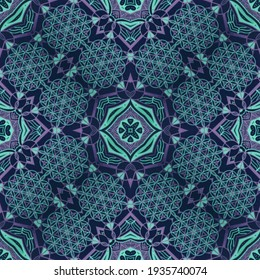 Gorgeous seamless pattern colorful abstract ornaments. Can be used for wallpaper, pattern fills, yoga wear, fabric print, surface textures.