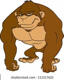 Gorilla/cartoon of a big ape