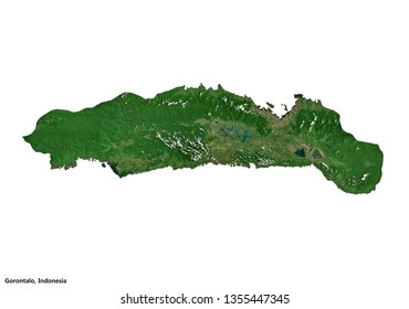 Gorontalo, Indonesia (3D illustration)