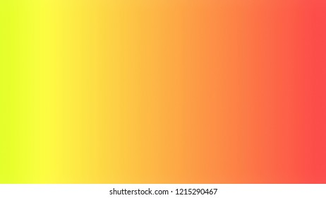 Gorse Yellow, Coral Orange, Tomato Red color. A modern gradient texture background with space for text, degrading fragments and a smooth shape of transition and changing colors.