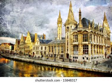 Gothic Belgium - artwork in painting style