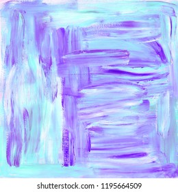 Gouache texture in turquoise and purple colors. Abstract gouache painting with brush strokes texture painting. Oil painting texture, gouache painting with wet brush strokes. Acrylic texture.