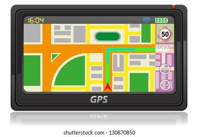 gps navigator illustration isolated on white background