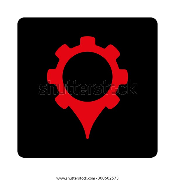 Gps Settings Icon This Flat Rounded Stock Illustration 300602573