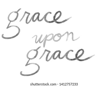 grace upon grace white and gray