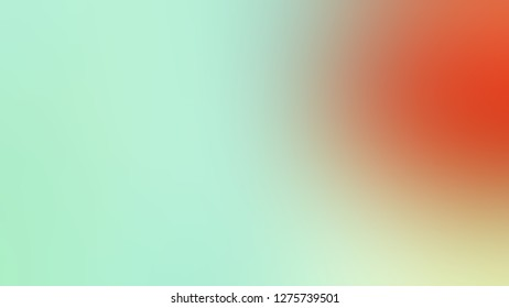 Gradient with Aero Blue, Green, Cameo, Brown color. Gaussian drawing as a work of art. Blurred backdrop with smooth color degradation. Template for label design.