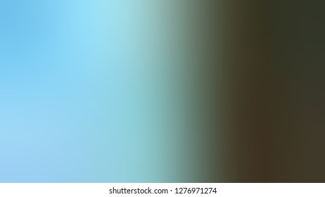 Gradient with Anakiwa, Blue, Mikado, Brown color. Attractive and mystical blurred background. Template and wallpaper to the screen of a mobile.