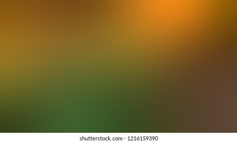 Gradient with Antique Bronze, Green, Ochre, Brown color. A simple defocused and blurred backdrop with the transition colors for advertising.