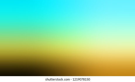 Gradient with Aquamarine, Green, Sundance, Brown color. Classic and awesome abstract blurred background with smooth color transition. Minimalism.