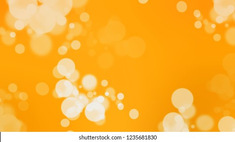 Gradient background with bokeh effect and Dark Tangerine, Orange, Astra, Brown color. Defocused background with smooth color transition for mobile app. Template with changing shades.