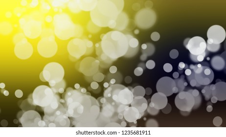 Gradient background with bokeh effect and Mikado, Brown, Tana, Grey color. Blank modern blurred and defocused background for banner or presentation.