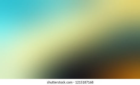 Gradient with Bandicoot, Green, Sinbad color. Abstract blurred background with smooth color transition. Minimalism.