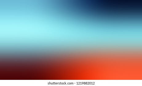 Gradient with Bermuda Grey, Blue, Cinnabar, Red color. Simple blurred backdrop for desktop and mobile phone.