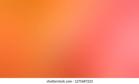Gradient with Bittersweet, Orange, Burnt color. Very simple and modern blurred background with smooth change of colors and shades. Sample with blank space for text and advertising.