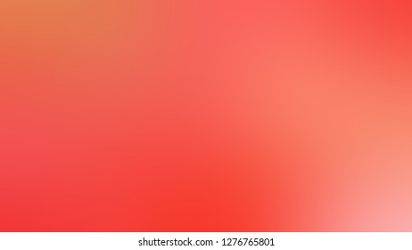 Gradient with Bittersweet, Orange, Coral Red color. Very simple and modern blurred background without focus. Template for label design.