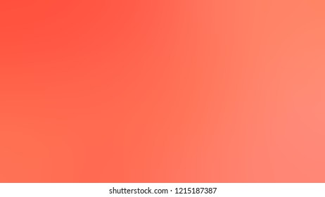 Gradient with Bittersweet, Orange, Salmon, Red, Tomato color. Simple modern blurred background with color degradation.