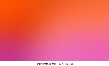Gradient with Bittersweet, Orange, Vermilion, Red color. Classic and contemporary blurred background with smooth change of colors and shades. Template for web page or site.