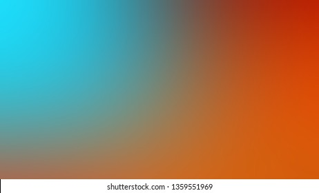 Gradient with Blue, Orange color. Ambiguous and foggy blurred background with smooth color degradation. Blank space for text and advertising.