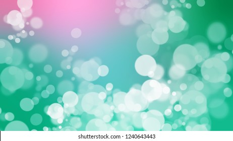 Gradient with bokeh effect and Sinbad, Green, Puerto Rico color. Blank simple modern blurred background with color degradation.