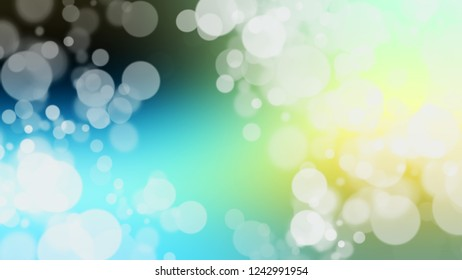 Gradient with bokeh effect, sparkle and Hint Of Green, Blizzard Blue color. Beautiful and awesome simple modern blurred background with color degradation.