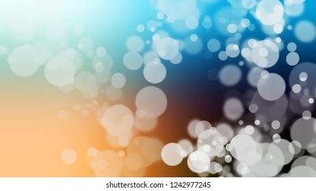 Gradient with bokeh effect, sparkle and Jet Stream, Green, Macaroni And Cheese, Orange color. Classic and awesome simple modern blurred background with color degradation.