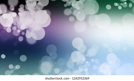 Gradient with bokeh effect, sparkle and Link Water, Blue, Port Gore color. Blend simple defocused and blurred background with the transition colors for banner and advertising.