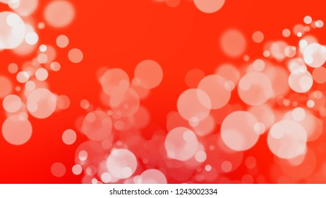 Gradient with bokeh effect, sparkle and Scarlet, Red, Bittersweet, Orange color. Raster and awesome blurred background for banner or presentation.